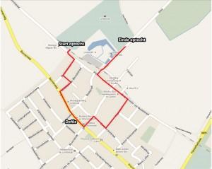 Plattegrond Optocht route Bondsfeest 2011