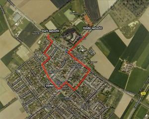 Optocht route Bondsfeest 2011 - Satelliet