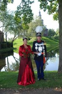 Koningspaar Salvian van Cleef en Regine Hermans