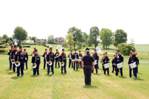 Drumband in actie - Bondsfeest Klimmen